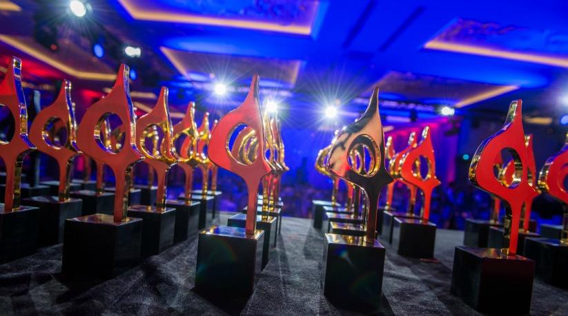 SABRE Awards trophies slide